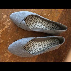 Gray slip on flats